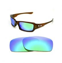 NEW POLARIZED CUSTOM GREEN LENS FOR OAKLEY FIVES SQUARED SUNGLASSES